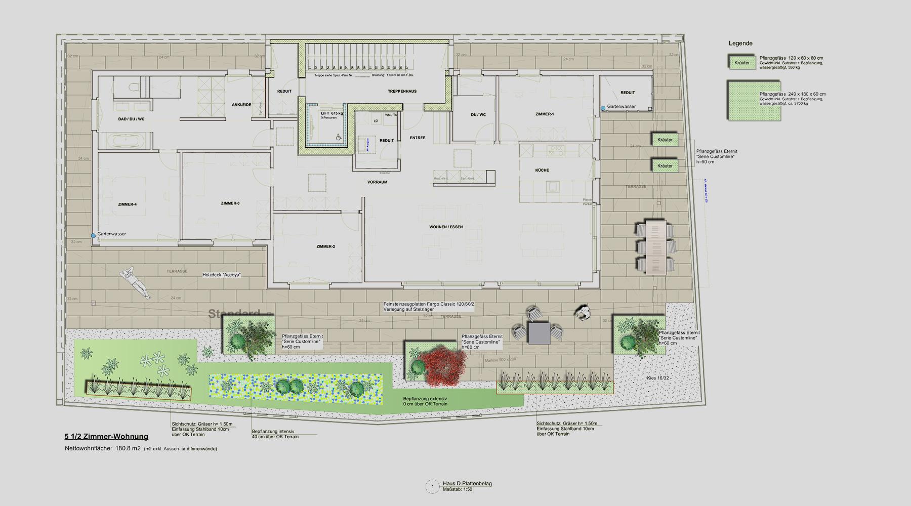 Amstutz Gartenbau, Gartenplanung, Dachterrassen, Attikawohnungen