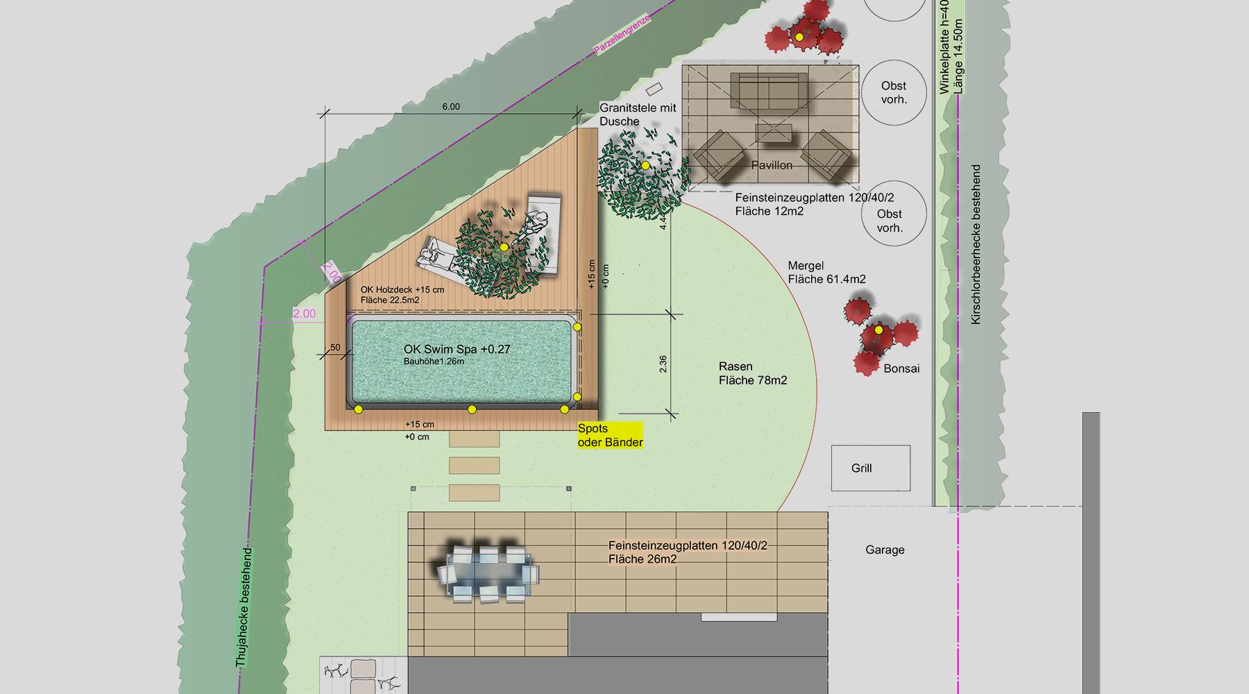Amstutz Gartenbau, Gartenplanung, Gartenumänderung