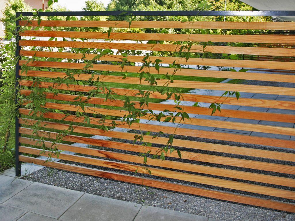 Amstutz Gartenbau AG, Sichtschutz, Holzkonstruktion