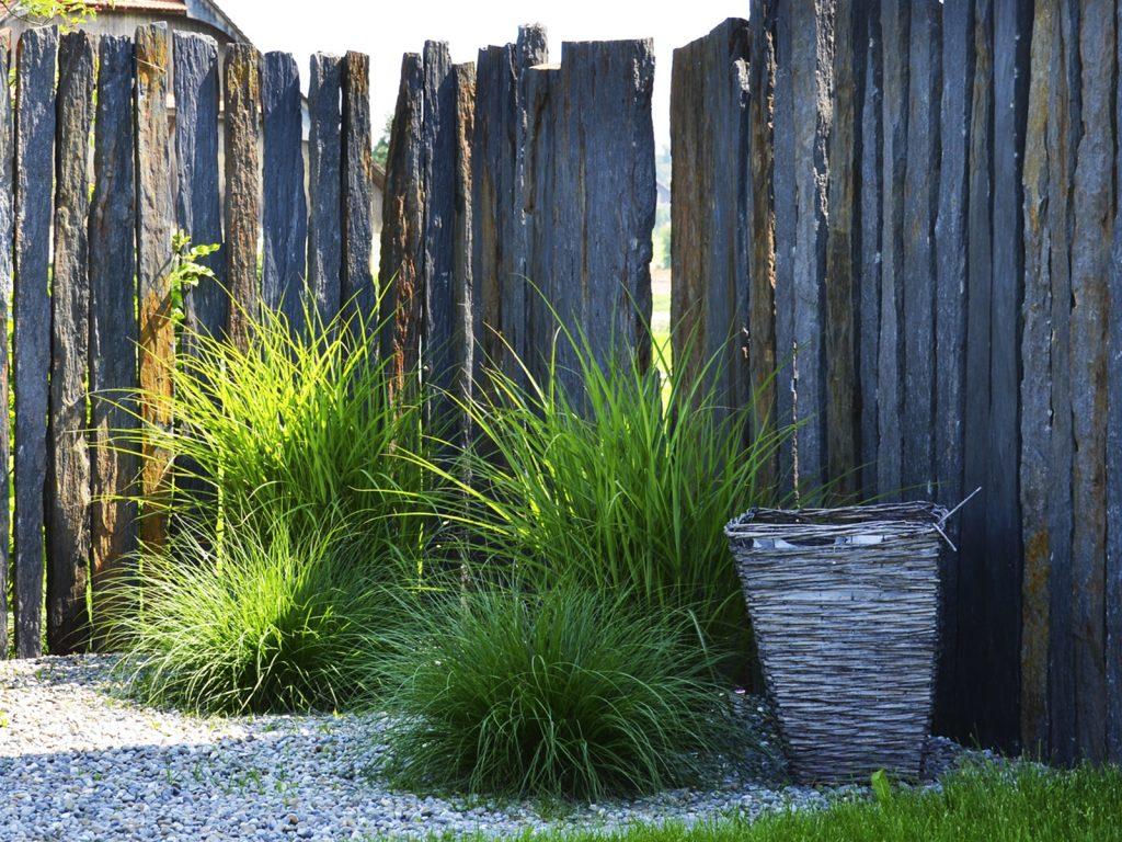 Amstutz Gartenbau AG, Sichtschutz, Schiefer Stelen