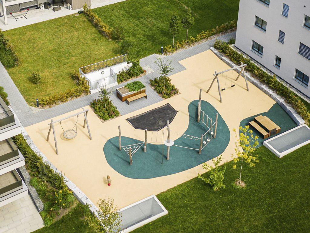 Amstutz Gartenbau AG, Spielplaetze, Quartierspielplatz
